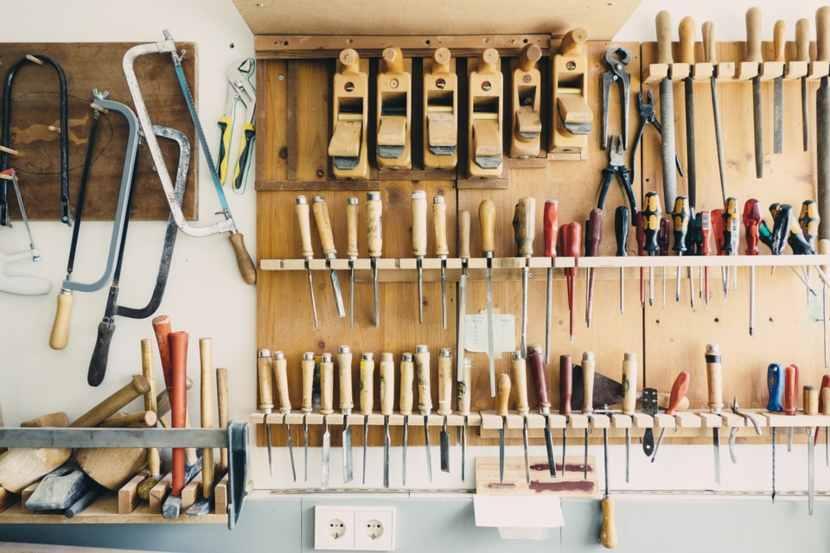 comeorganizzare gli attrezzi da lavoro